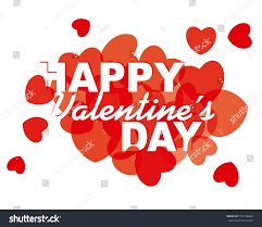 valentines day card design hearts stock vector 557110660