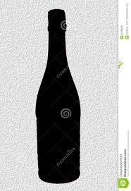champagne bottle outline silhouette champagne bottle stock photo image 56198236