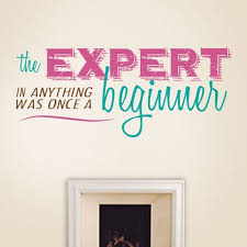 expert beginner wall decal quotes