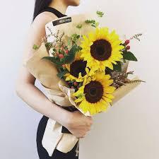 sunflower bouquet graduation sunflower bouquet graduation flower birthday gift