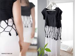 kleidung selber designen diy t shirt bleichen top mit geflochtenen trägern kreatives