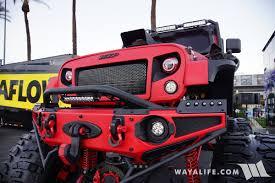 big red jeep 2016 sema magnaflow cybertron jeep tj wrangler