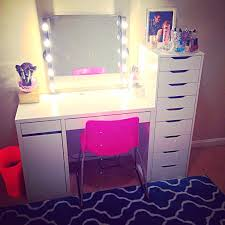 Diy Desk Vanity Vanities Ikea Desk With A Homemade Vanity Mirrormakeup Storage
