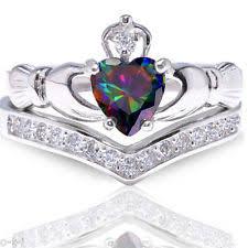 claddagh wedding ring set topaz claddagh rings ebay