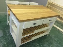 free standing kitchen island with breakfast bar solid oak butchers block breakfast bar kitchen island bespoke