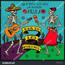 Halloween Skeleton Dance Day Dead Dia De Los Muertos Stock Vector 316851500 Shutterstock