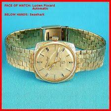 solid gold band lucien piccard solid gold band wristwatches ebay