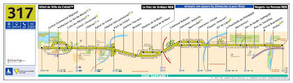 Paris Rer Map Ratp Route Maps For Paris Bus Lines 310 Through To 319