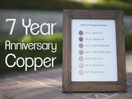 4 year anniversary gift ideas for 7 year anniversary gift copper jerad hill 4 year wedding