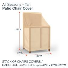 Gp Products Patio Furniture Amazon Com Budge All Seasons Patio Stack Of Chairs Cover