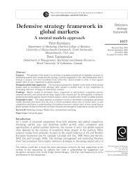 defensive strategy framework in global markets a mental models