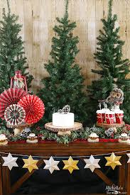 camp christmas dessert table ideas michelle u0027s party plan it