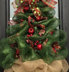 christmas tree wreath huge deco mesh christmas tree wreath