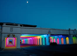 Art Lights Kinetic Skyline U0027 Light Sculpture To Illuminate Bank Of America Plaza