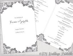 catholic wedding blessing diy catholic wedding program template charcoal gray