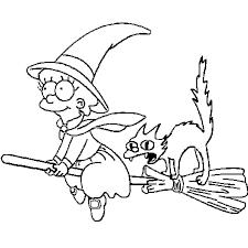 Coloriage Halloween Simpson en Ligne Gratuit à imprimer