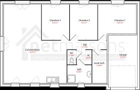 plan maison de plain pied 3 chambres cuisine gallery plan de maison gratuit d niegonline plan maison