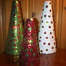 sequined christmas trees my mom made that