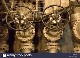 detail valve pit room the b reactor hanford near richland stock