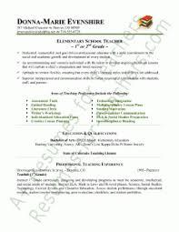 Elementary Teacher Resume Examples by Teacher Resume Examples 2016 For Elementary Teacher Resume