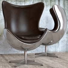 Aviator Armchair Seat Egg Aviator Designed By Arne Jacobsen 3d Model Max Obj Fbx Mtl