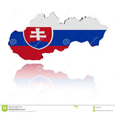 Slovakia Map Slovakia Map Flag With Reflection Stock Illustration