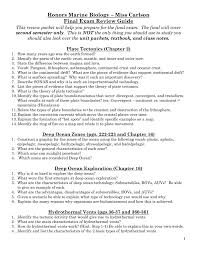 honors marine biology u2013 miss carlson final exam review guide