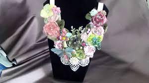 necklace flower handmade images Handmade floral statement necklace bib necklace floral jpg