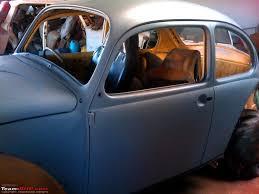 blue volkswagen beetle 1970 1970 vw beetle restoration delivered team bhp