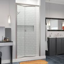 Frameless Bifold Shower Door Infinity Semi Frameless 1 4 Inch Glass Bi Fold Basco Shower Doors
