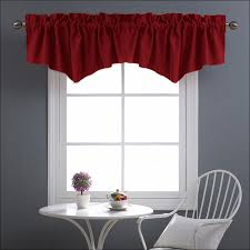 Red Kitchen Curtains And Valances by Kitchen Red And Black Curtains Nautical Valances Red Curtains