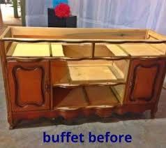 Repurposed Bathroom Vanity by Repurposed Buffet Into Bathroom Vanity Bathroom Ideas Vanity