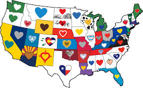 Beer Map Usa by Heart Sticker The Heart Sticker Company