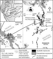 Southwestern United States Map by Detrital Zircon Evidence For Non Laurentian Provenance