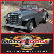 willys jeepster 1950 willys jeepster motoexotica classic car sales