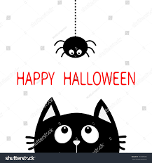 halloween cat silhouette background happy halloween black cat face head stock vector 702308053