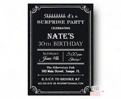 Sample Birthday Invitation Card For Adults Surprise Birthday Invite 40th Birthday Invitation For