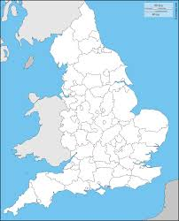 England Counties Map by England Free Map Free Blank Map Free Outline Map Free Base Map