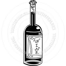 cartoon white wine cartoon wine bottle vector illustration by clip art guy toon