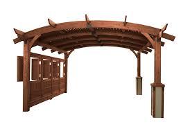 16x16 u0027 mocha sonoma wood pergola kit pergolas pergolas