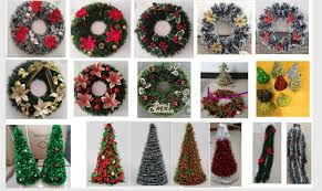 christmas red tinsel wreath manufacturers and supplier china