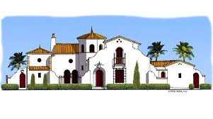 southwest style home plans authentic spanish period style home plan full set of plans for