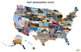 Metlife Stadium Map Map Of Top Instagrammed Places In Each Of The 50 U S States And D C