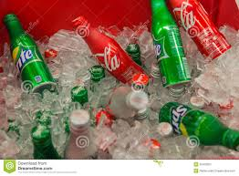 soda photography coca cola and sprite in aluminum cans editorial photography