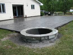 Concrete Patio Designs Pit Inspired Best Concrete Patio Designs With Pit