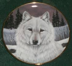 franklin mint heirloom recomendation lone wolf wolf plate w coa
