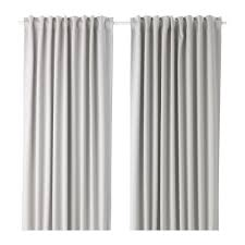 ikea majgull blackout curtains 1 pair light grey 303 467 50 ebay