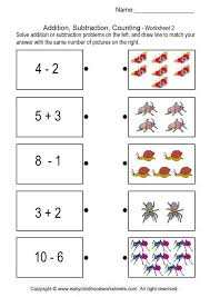 addition subtraction counting brain teaser worksheets 2