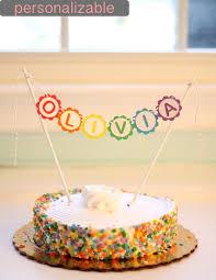 cake topper banner rainbow cake topper banner the paper