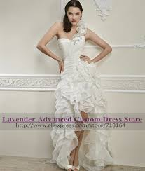 popular short country wedding dresses high low buy cheap short